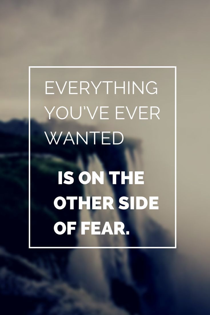 Everything you've ever wanted is on the other side of fear. https://t.co/C2PWWZQaqV