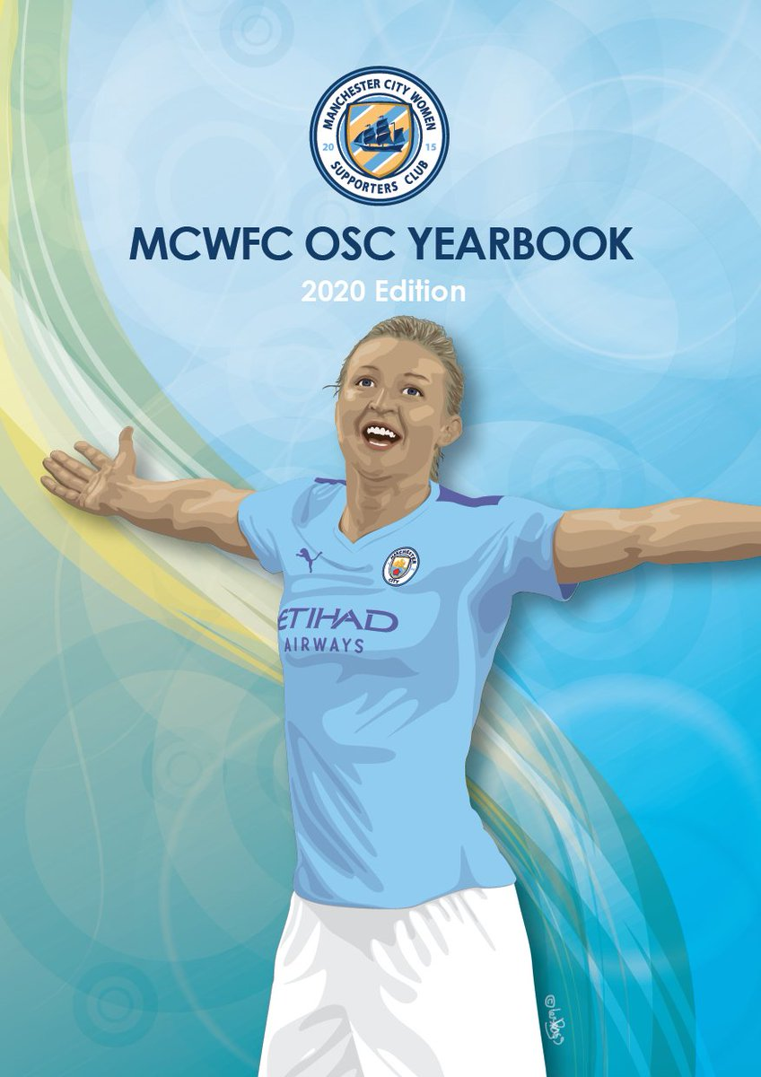 We are extremely PROUD to announce our official 2020 @MCWFC_OSC Yearbook   Compiled again by renowned City author @Bluecfa1962 and with a STUNNING cover again kindly created by @111Lesley111   Initially the book will be available to order direct from us,   more details soon 💙👍 https://t.co/U9CTV8bkWn