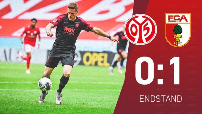 Mainz-Augsburg 0-1 e ospiti vicinissimi alla salvezza.