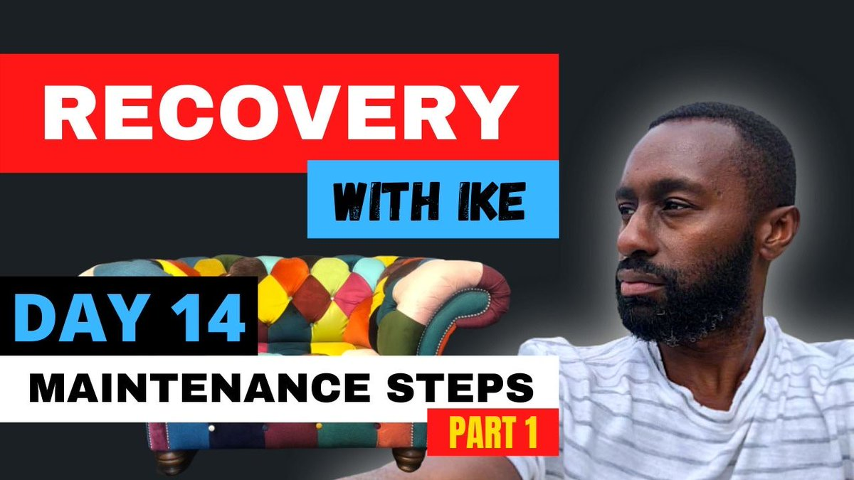 "Day 14 - Maintenance Steps (Part 1) #RecoveryWithIke .  Please leave a comment/ DM or email us for more information or to join the ""Gratitude WhatsApp Group""  Stay tuned for Part 2.  #ChildOfGod   https://t.co/O2OEKIZYpY https://t.co/hVoPTJRbid"