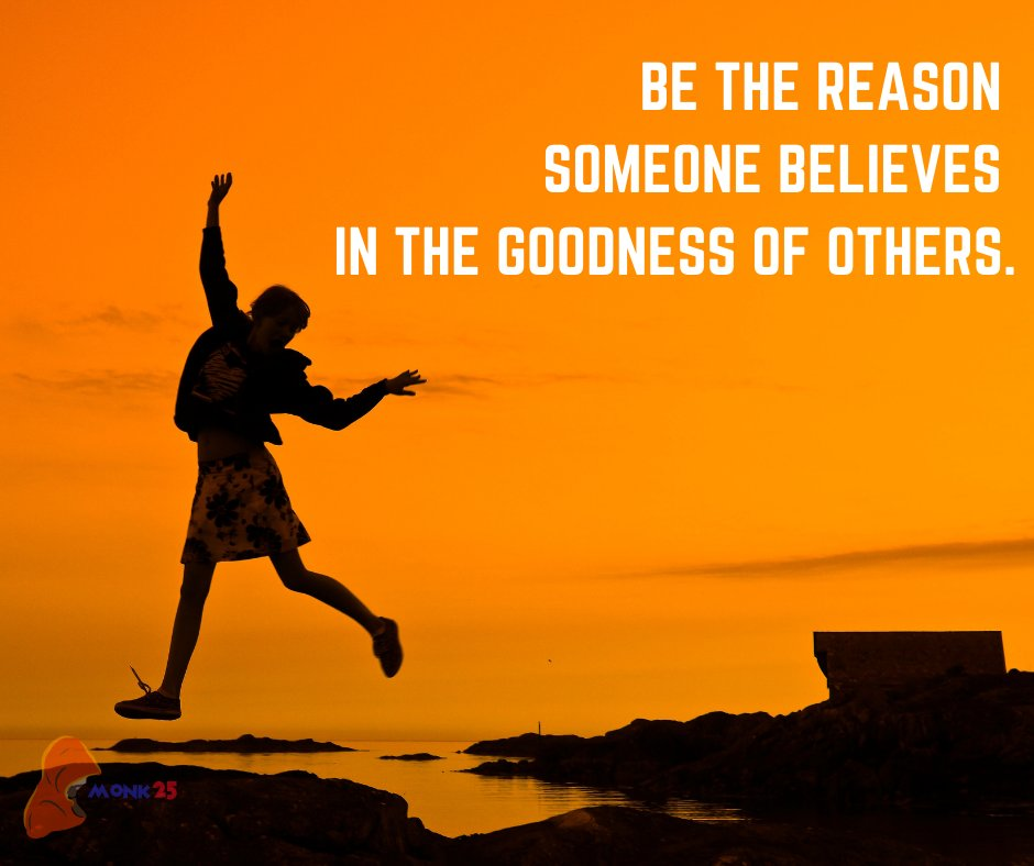 Be the reason someone believes in the goodness in people.. . . #gratitude #beyourbestself #FeelingGood #feelgood #PositiveVibes #Believe https://t.co/95gKcPNHhD