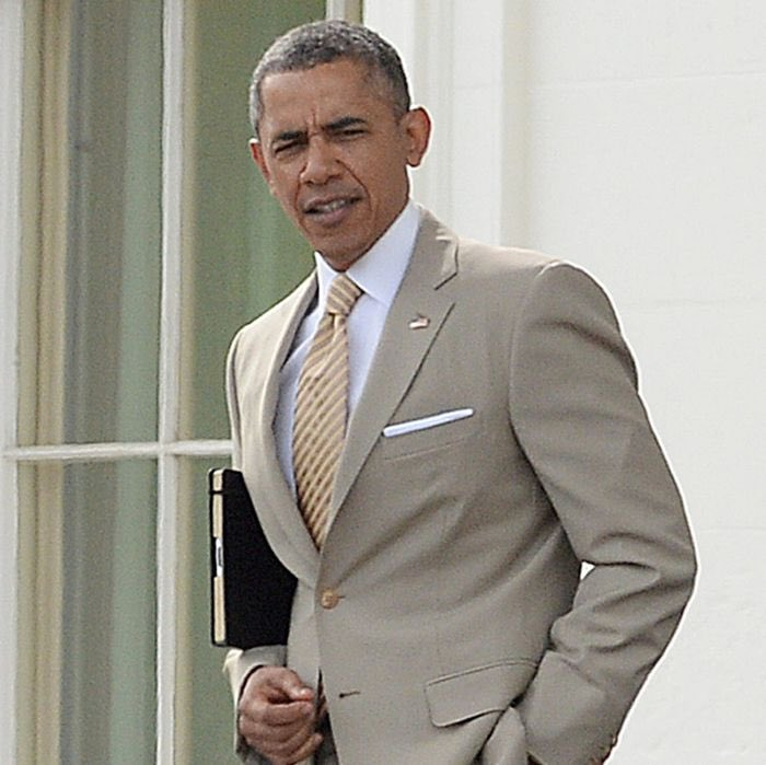 Thinking back fondly on the days when a snazzy tan suit was considered a scandal.  #ObamaDayUSA #ObamaDayJune14th
