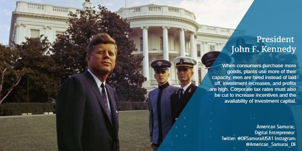 #Tax on #CapitalGains directly affects #investment decisions, mobility & flow of risk #Capital from static to dynamic situations, ease or difficulty experienced by new #ventures in obtaining #capital, & thereby the strength & potential for growth of economy. #JohnFKennedy #JFK https://t.co/qJThtK5BwB