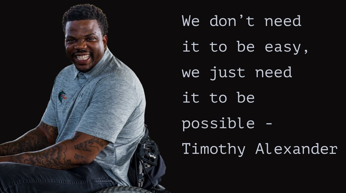 We don't need it to be easy, we just need it to be possible - Timothy Alexander @InspiredbyTA says it all!!!