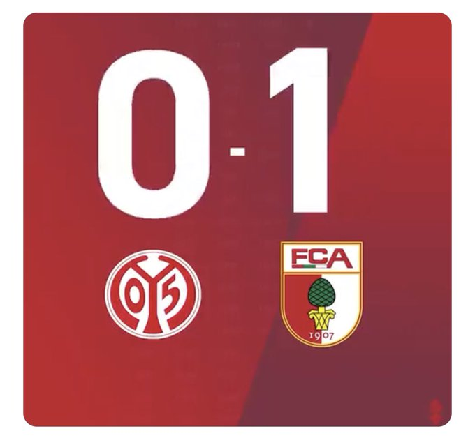 Dopo un solo minuto di gara é già Mainz-Augsburg 0-1!