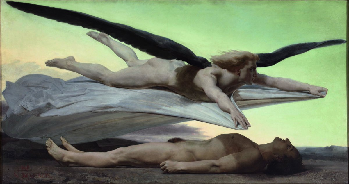 Égalité devant la mort (Equality Before Death), 1848, oil on canvas, 141 × 269 cm (55.5 × 105.9 in), Musée dOrsay, Paris. William-Adolphe Bouguereau (30 November 1825 – 19 August 1905) was a French academic painter.
