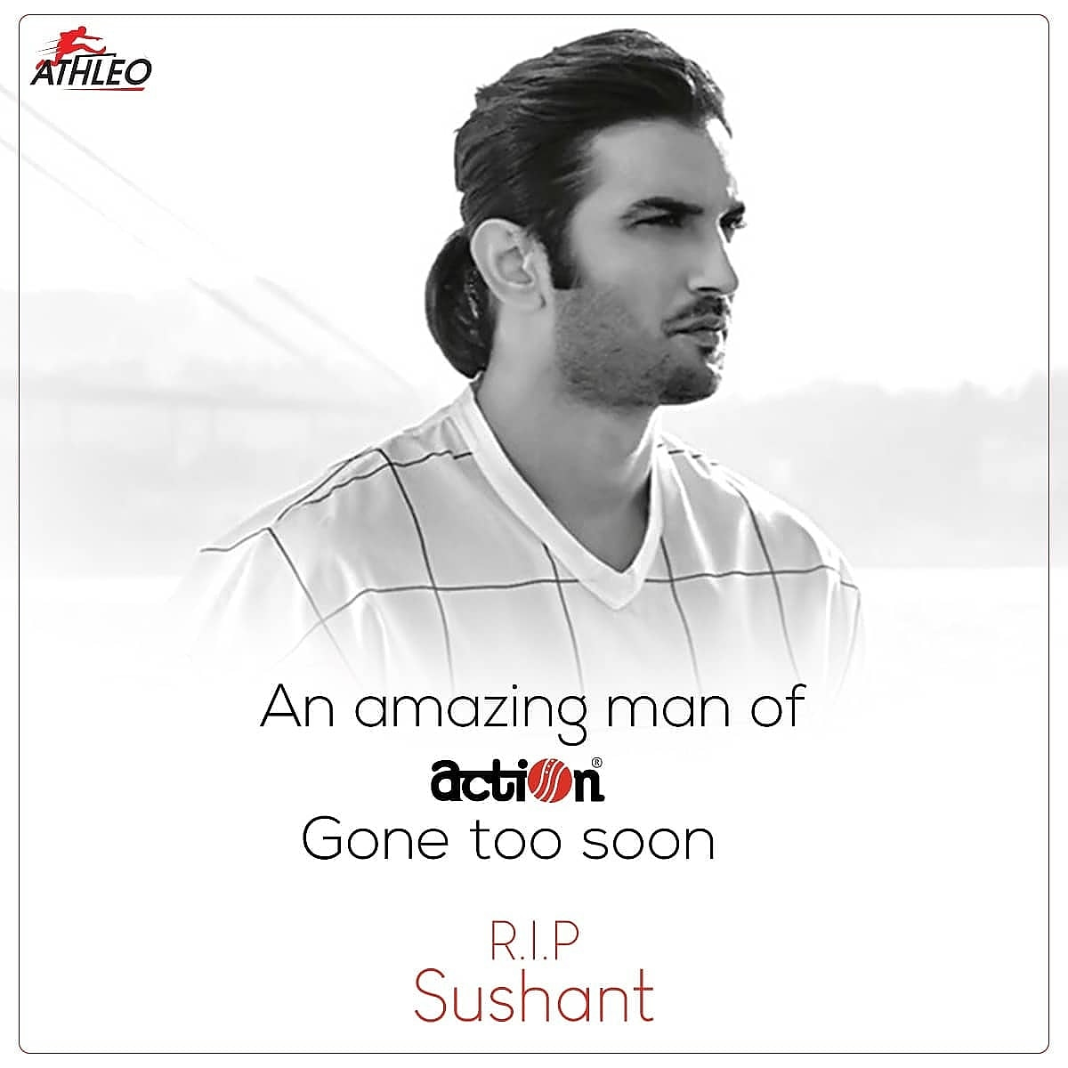 Rest in peace. You'll rest in our hearts forever.  #sushantsinghrajput #rip #bollywood #hindi #cinema #legend #actor #AthleoShoes  #ActionShoes #SushantSingh https://t.co/llyXn9OXTb