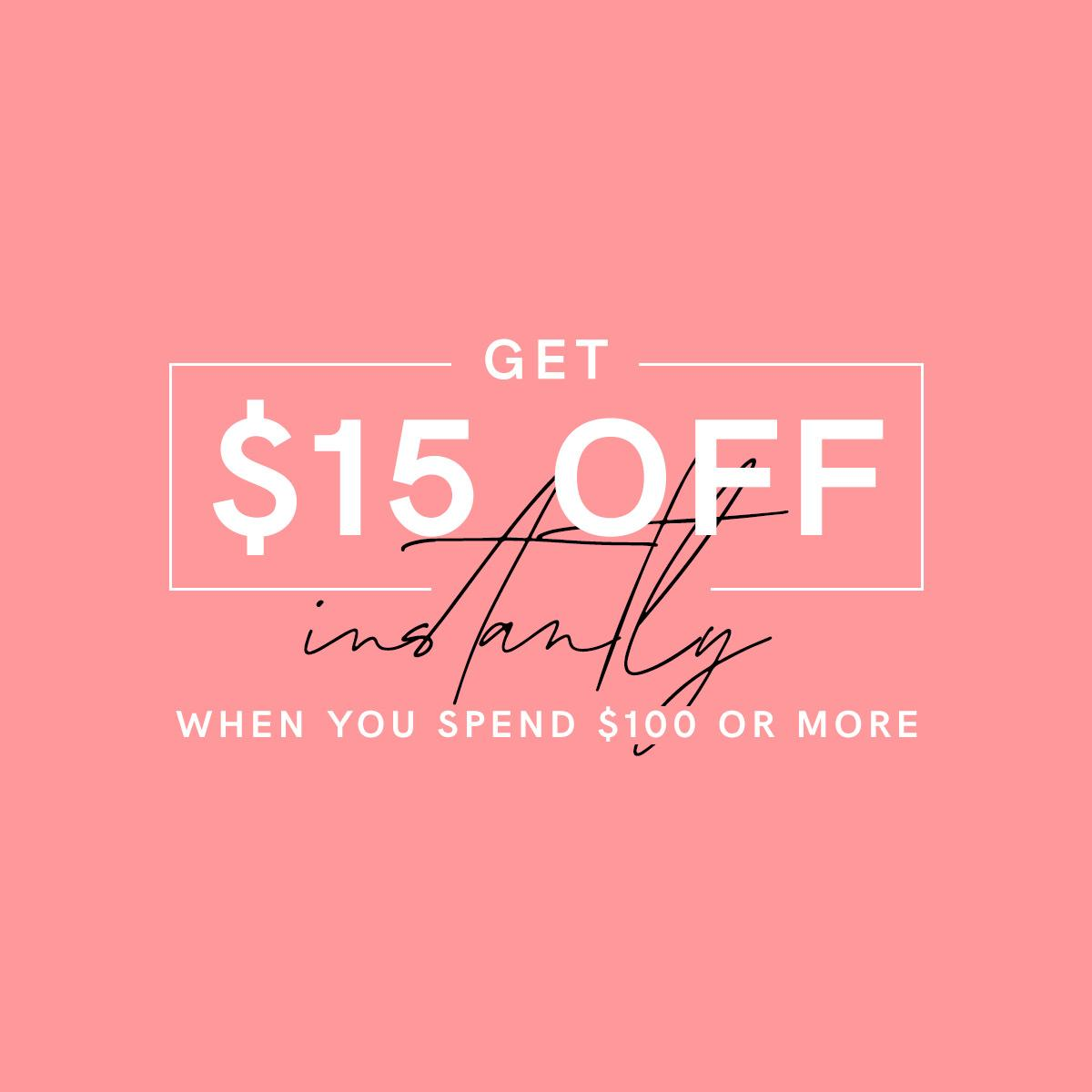 Last chance to shop and save! Until midnight ET, get $15 off instantly when you spend $100 or more. Offer is automatically applied at checkout when you click the link below.   Shop Now: https://t.co/ZMEvyYpPqd~ https://t.co/tLI8foFuWA