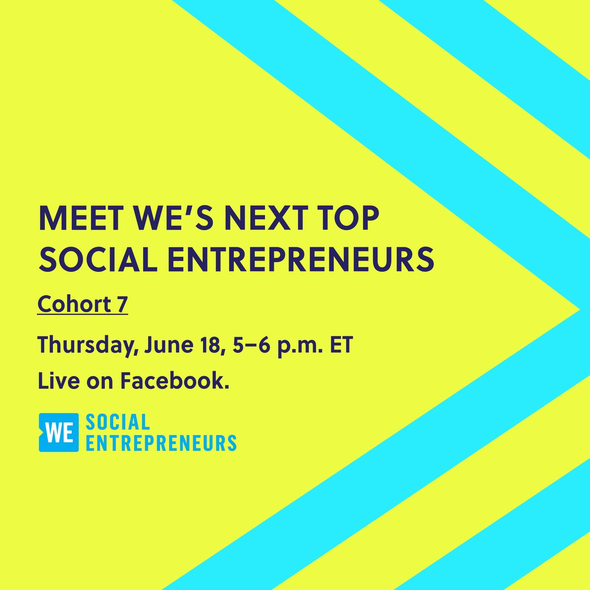 Watch as the next great social entrepreneurs present their ideas to a panel of experts!  Join us live on Facebook on Thursday, June 18 from 5-6pmET. - https://t.co/al8rvWvDIK https://t.co/qMbv773jma