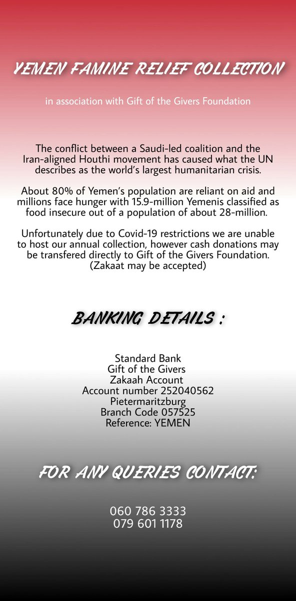 Here's how you can contribute to the aid of Yemen. Please rt for awareness 🙏