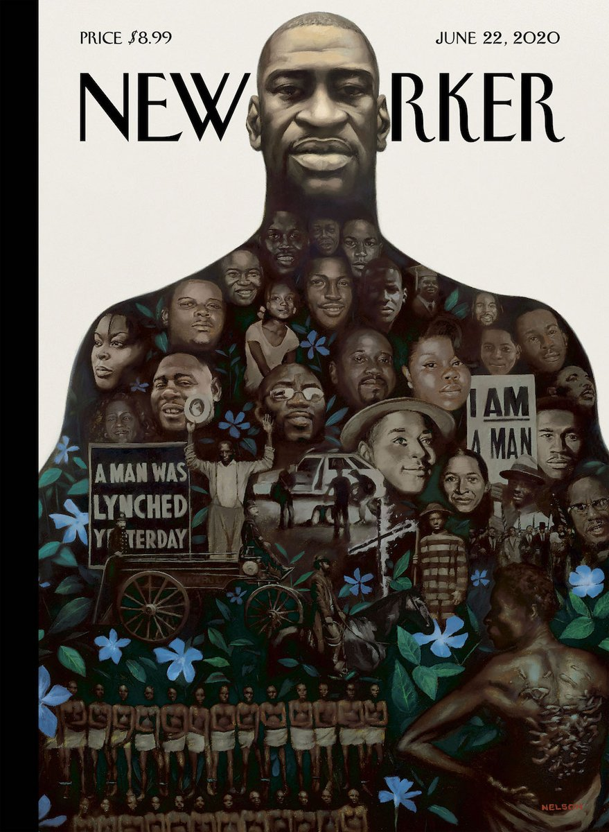 """An early look at next week's cover, """"Say Their Names,"""" by @KadirNelson: https://t.co/Nj3q09OrOL https://t.co/a3w3l1XESb"""