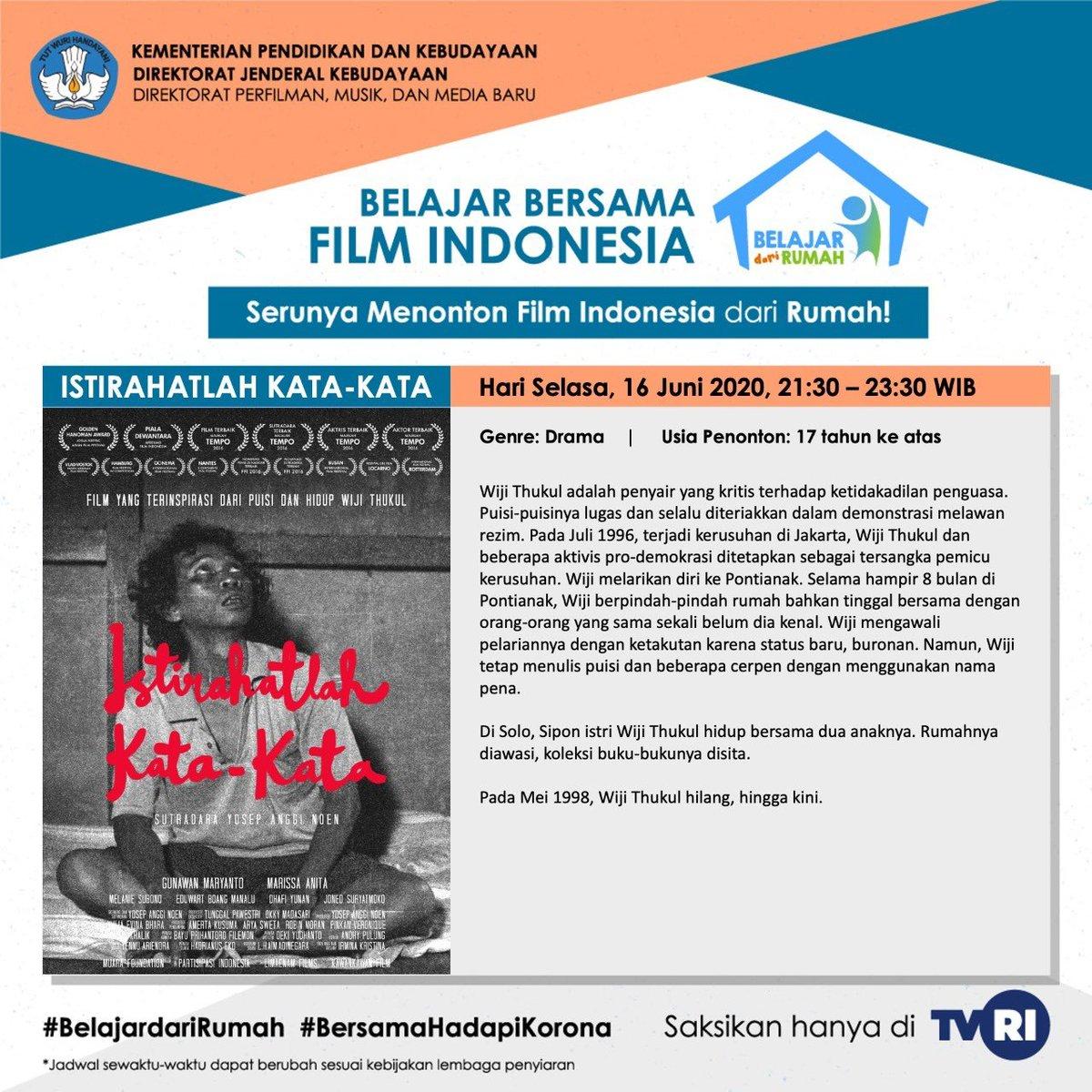 Tayang nasional di TVRI! Nominasi Piala Citra, Film Pilihan Tempo, @gunawanmaryanto @MarissaAnita Pilihan Tempo, Best Film Bangkok ASEAN Film Festival, Golden Hanuman @JAFFJogja akan hadir di ruang keluarga anda. https://t.co/z0JroHjx66