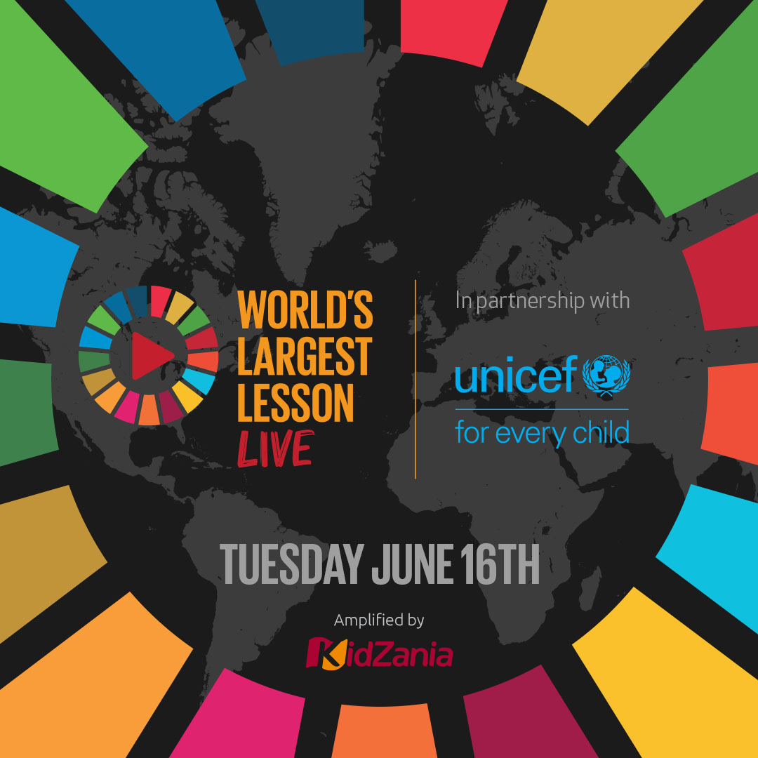 "During the #COVID19 outbreak, when so many children are learning at home, World's Largest Lesson and UNICEF are creating a 40-minute ""World's Largest Lesson Live,"" which will premiere on YouTube on June 16th with UN experts and influential young icons:  https://t.co/hCW4xwstsz https://t.co/ELtGAiaXCL"