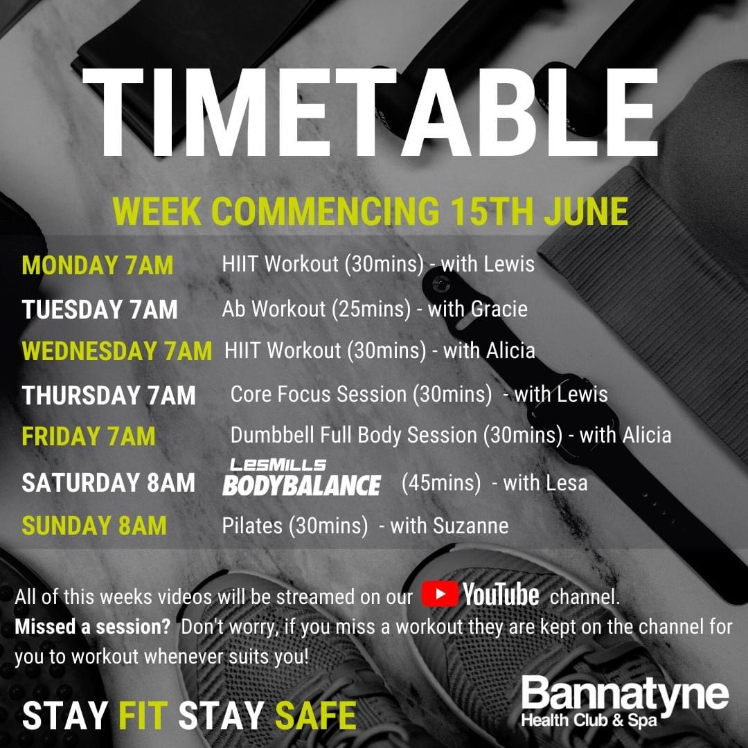Here's next week's timetable 😀 https://t.co/acv9ylN0pq