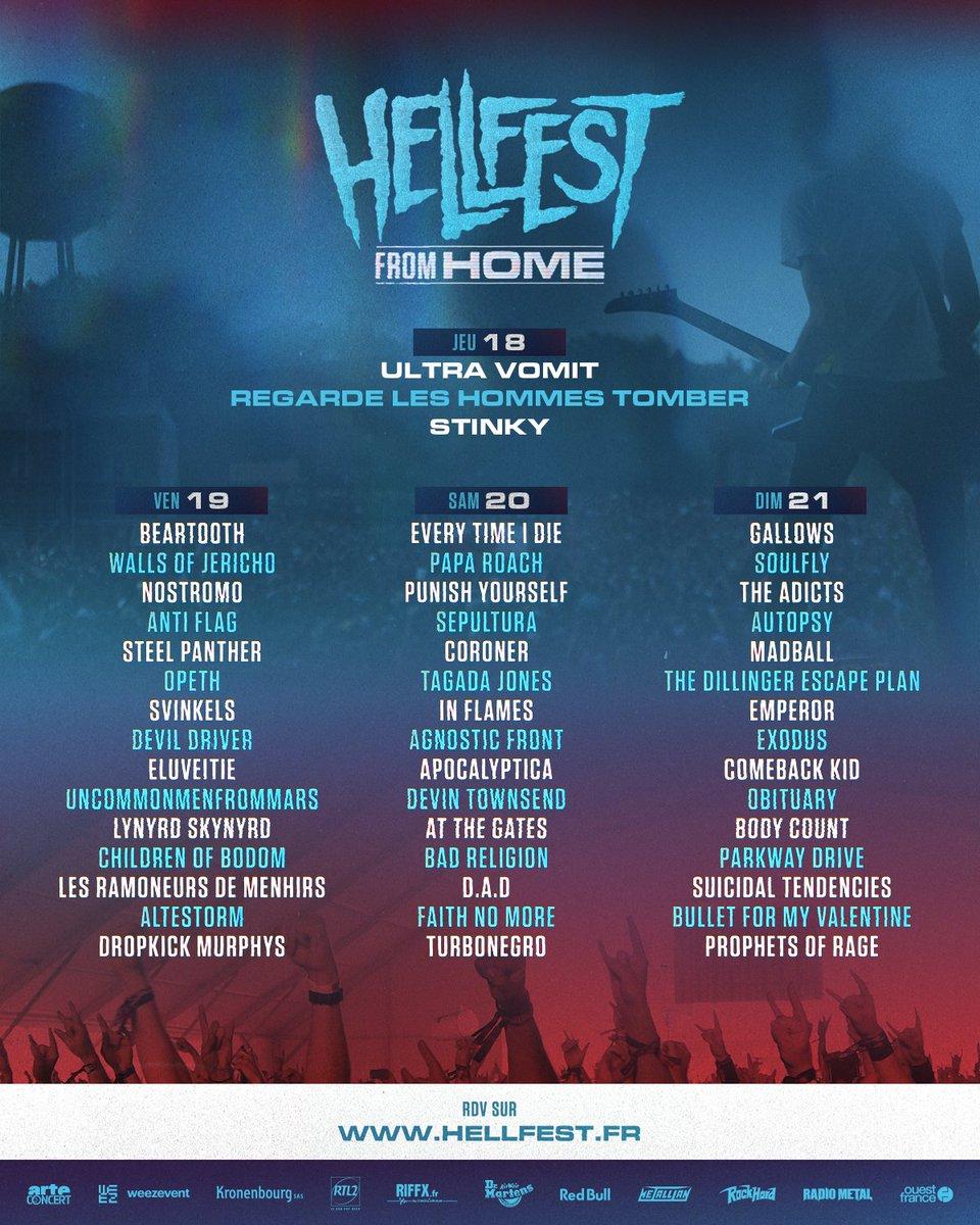 📺 HELLFEST FROM HOME 📺  Demandez le programme !   https://t.co/RppxJV0Qox  #hellfest #hellfestfromhome  cc @ARTEconcertFR https://t.co/dBWpOZMB4T