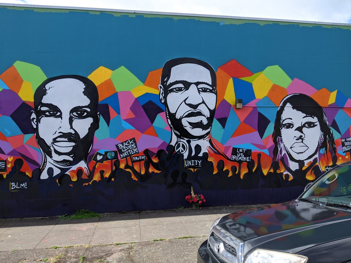 Michael D Barton On Twitter Beautiful And Powerful Mural In Ne Portland Pdx Blacklivesmatter Saytheirnames Ahmaudarbery Georgefloyd Breonnataylor Https T Co Erqp0zufid