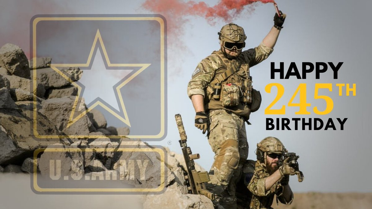 For 245 years you've stood in defense of the nation, it's been our honor to support you for the last 67.  Here's to many more @USArmy!  #ArmyBday https://t.co/geATBcsH8d