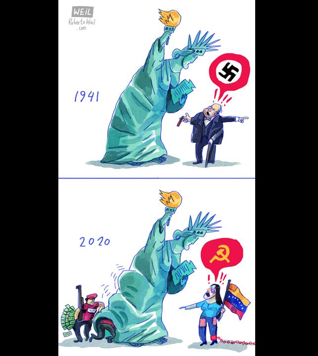 JUNE 14, 2020 - COMMUNISM - #SouthAmerica #CentralAmerica #NorthAmerica #Venezuela #USA @CartooningForPeace #WEIL https://t.co/yHQ8v1R3LU