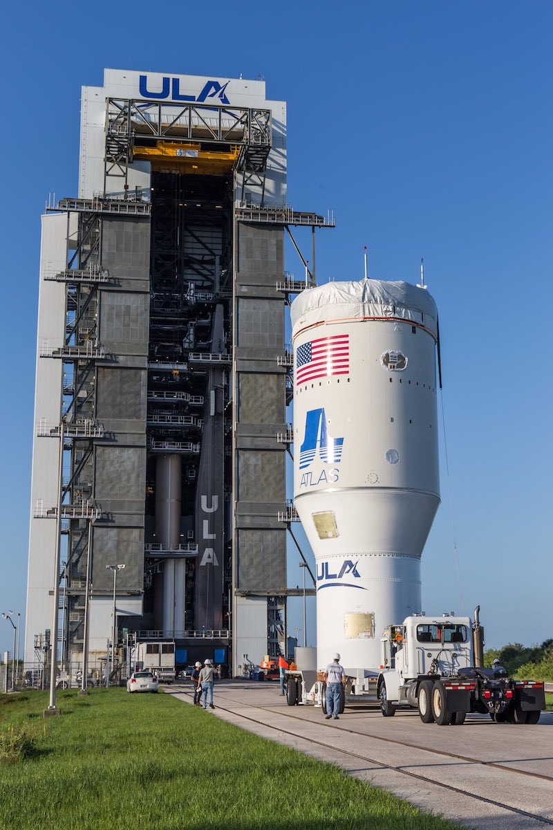 United Launch Alliance completed stacking of the major elements of the Atlas 5 rocket assigned to power NASA's Perseverance rover toward Mars, but the mission's launch date has been pushed back three days to July 20 after teams repaired a crane problem. https://t.co/lJcejqTecB https://t.co/vKyufx7mhr