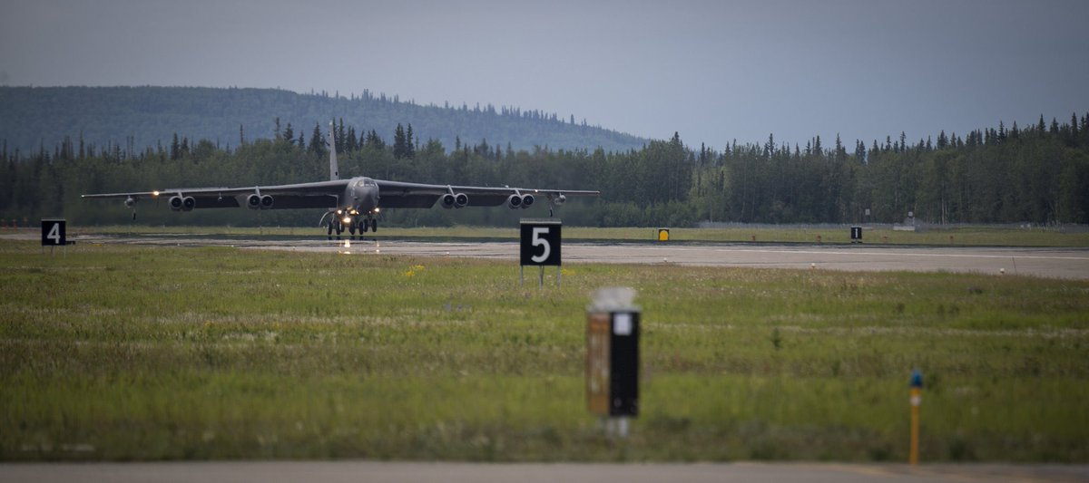 U.S. Air Force sends 3 B-52 bombers to Alaska days after Russian bombers flew off the coast