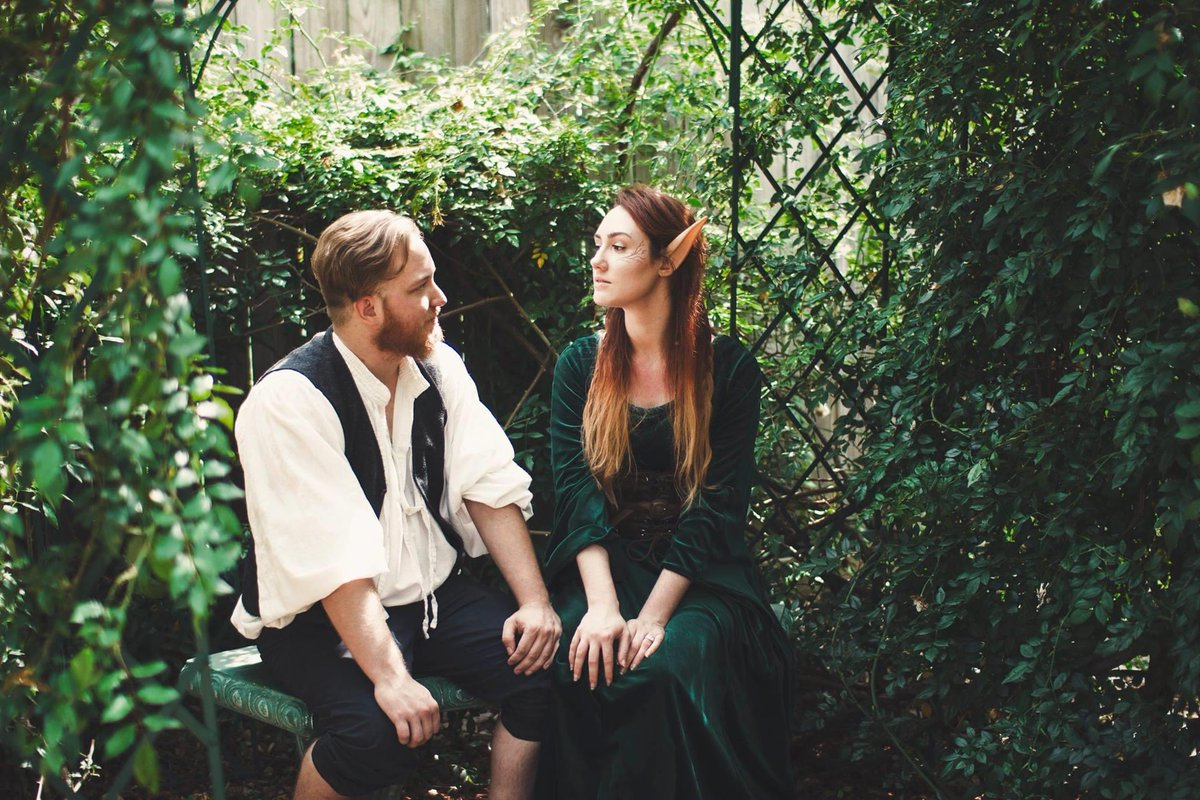 We got married at a Rennfaire in cosplay, with our D&D group as our wedding party (also in cosplay), to celebrate our nerdiness.  4 years last month and stronger than ever.  https://twitter.com/ballofchlo/status/1255182188024410113…pic.twitter.com/7GwreHFgrF