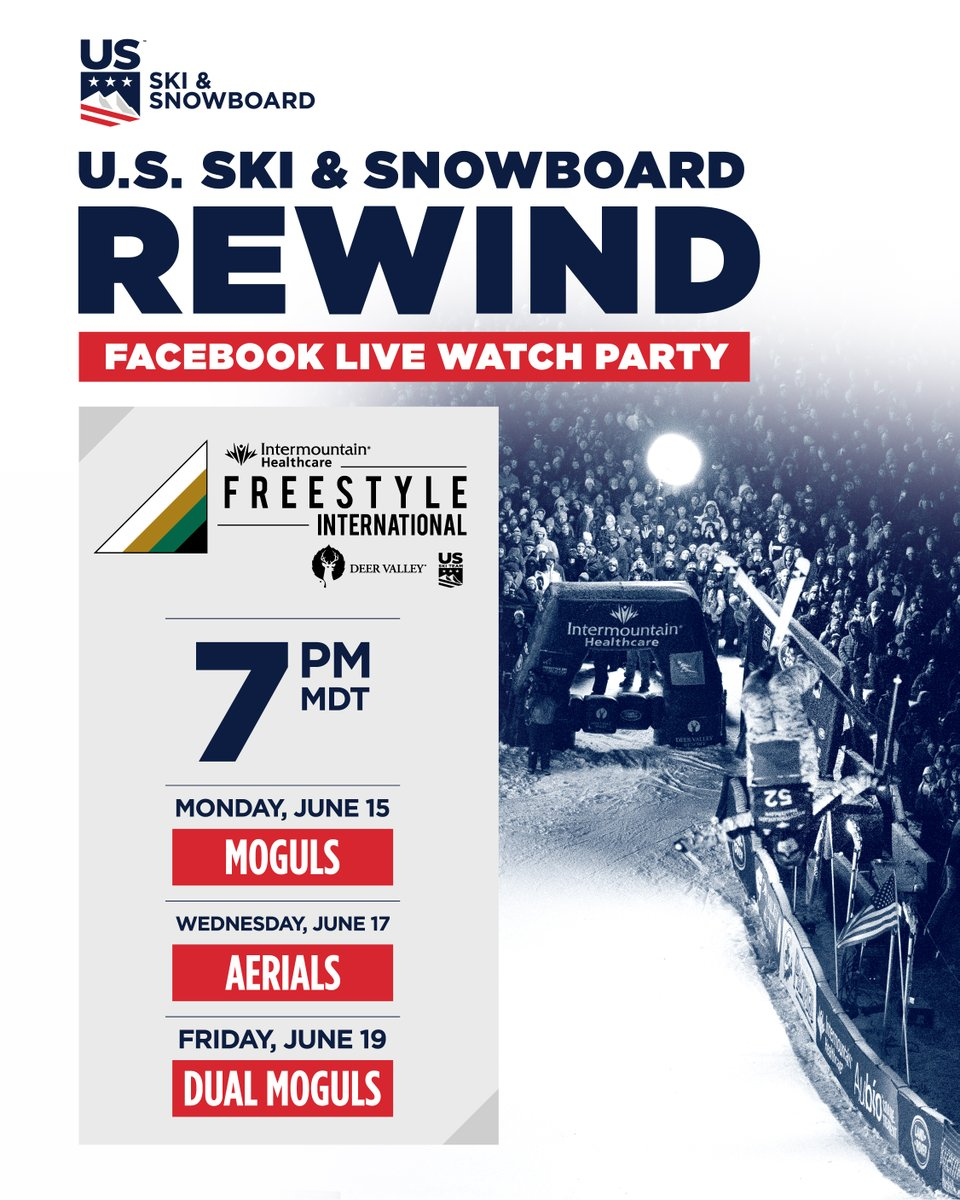 We're throwing it back this week to the 2020 @Intermountain @FISfreestyle World Cup at @Deer_Valley! Join us while we relive the action and watch our athletes compete against the best in the world! 6/15 @ 7 p.m.: Moguls 6/17 @ 7 p.m.: Aerials 6/19 @ 7 p.m.: Dual Moguls https://t.co/7zbpG8cAF1