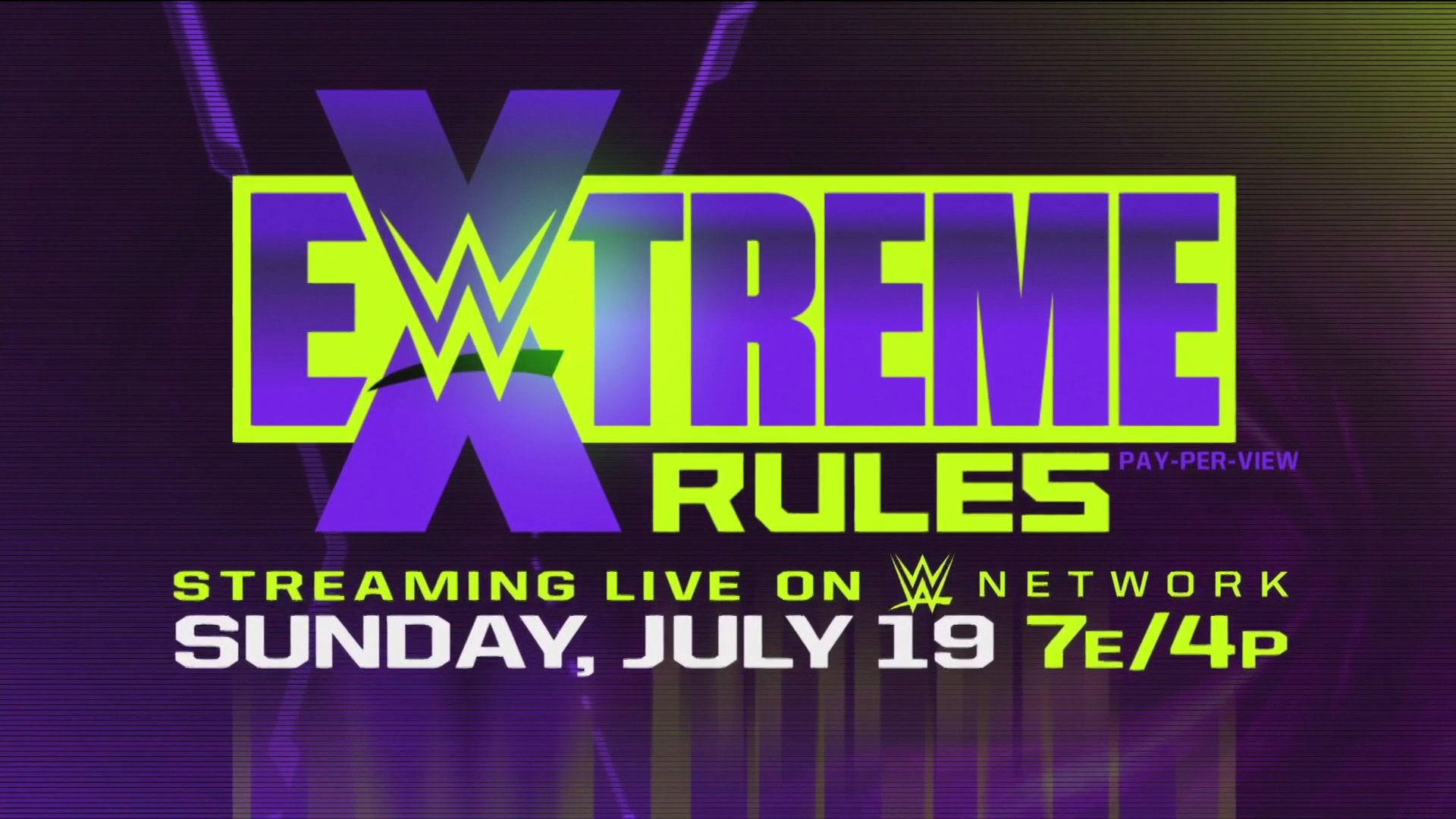 WWE Upcoming PPV WWE Extreme Rules 2020 Official Logo Poster