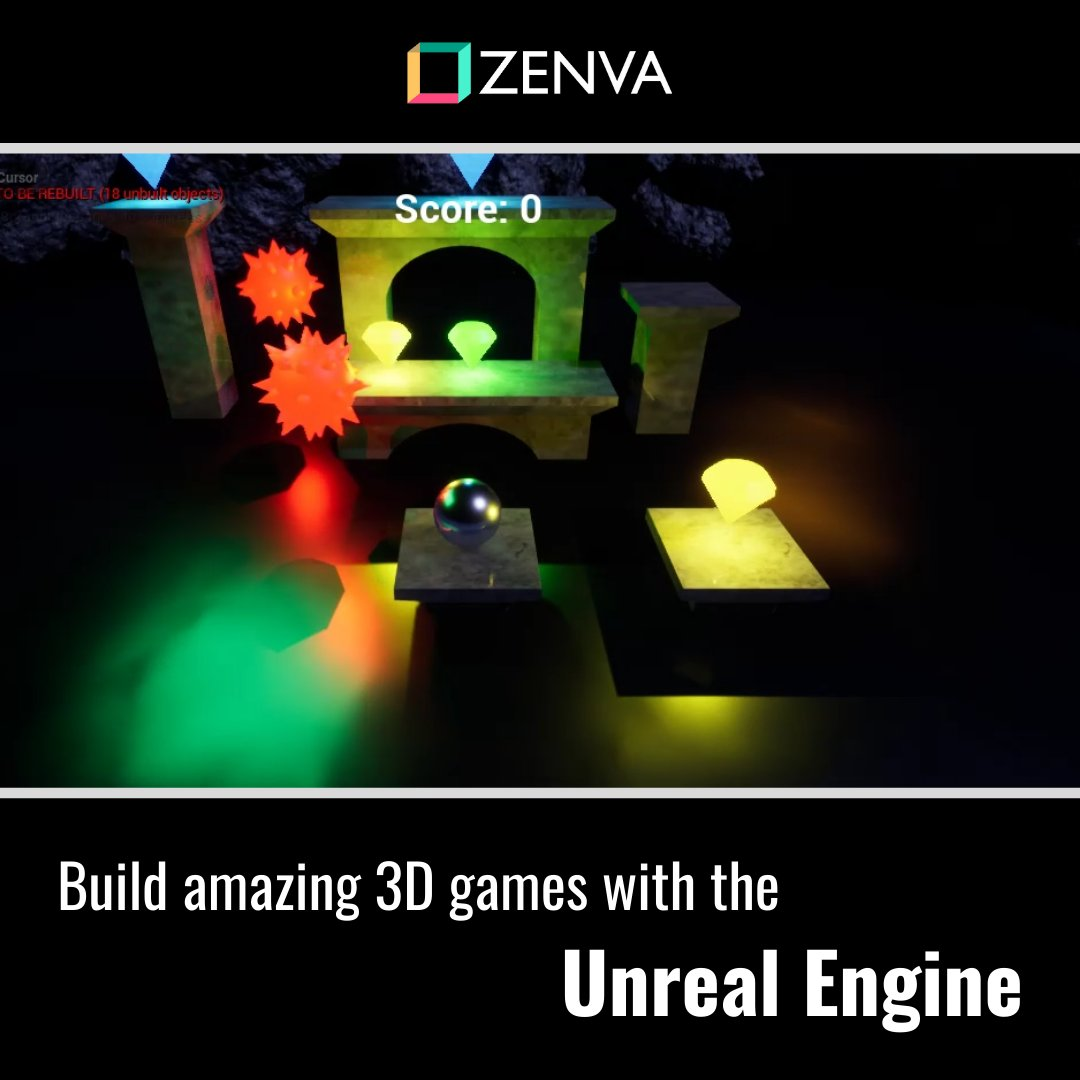 Zenva On Twitter Begin Developing 3d Games By Learning The Unreal Engine Create A Platformer To Learn About Blueprints Players Enemies Level Design And More Https T Co Cxkz61nr7u Zenva Learnprogramming Programming Coding Code Gamedev