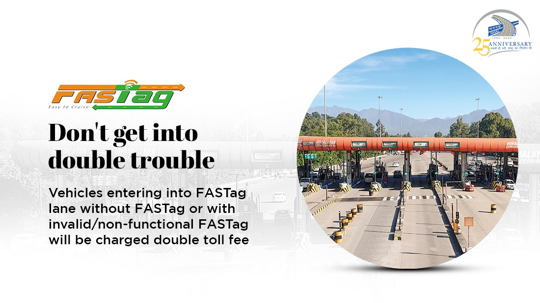 Use FASTag for a smooth passage on toll plazas! #NHAI #FASTagLife https://t.co/XojGbOx0mz