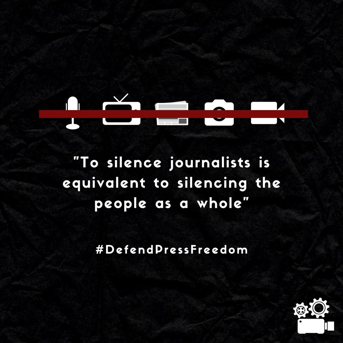 #DefendPressFeedom   In the current political adversaries in the Philippines, Press Freedom stands as the conscience of the government and the champion of the masses. We, the Media Works, believes that aside from the teachers we have at school, the media or the press works + pic.twitter.com/MPgajihA5c