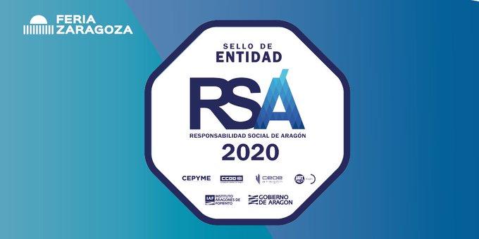 .@feriadezaragoza obtiene el sello #RSA concedido por @GobAragon, pone en valor la gestión transparente y buenas prácticas con clientes, usuarios o proveedores, la sostenibilidad, y las relaciones profesionales basadas en la colaboración y confianza.¡Enhorabuena!#socioClubCámara https://t.co/itdzZ8p1It