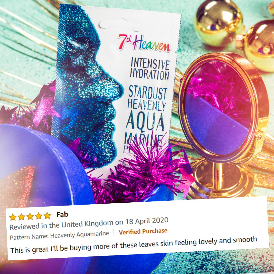 Our Heavenly Aqua Marine Stardust mask is a literal god send. Don't just take our word for it, check out our reviews! Pick up the Stardust bundle at @AmazonUK  if you fancy some sparkly, coconutty, peely goodness too! https://t.co/Ev7wgraviN
