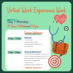 Today marks the first day of our Virtual Work Experience Week! A fabulous week long programme of immersive career webinar sessions with top employers and a range of stimulating activities! 💚 See below for the webinar sessions running today! #SHSWorkExperience
