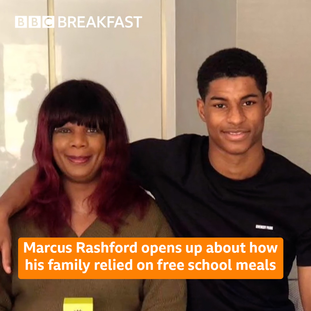 """""""I once had to go through that same system"""" In a TV exclusive with #BBCBreakfast @MarcusRashford explains why he's calling for a u-turn over the decision to end free school meal vouchers in England over summer. More here: https://t.co/xcqAUyGU20 https://t.co/Yndb93vqlH"""
