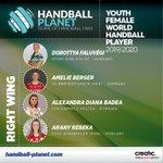 Image for the Tweet beginning: #YouthWorldFemaleHandballPlayer | #AmelieBerger und #EmilyBölk