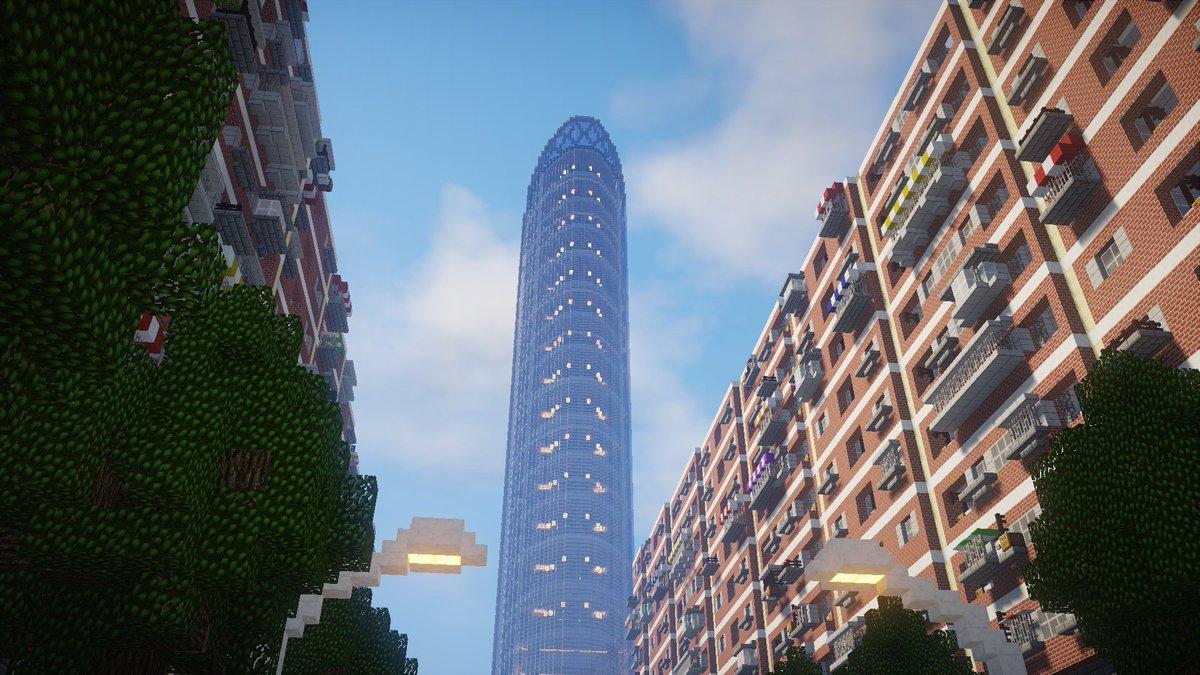 "L Λ G O N@Minecraft on Twitter: ""九龙风楼(九龍風楼)から見る景色 ..."