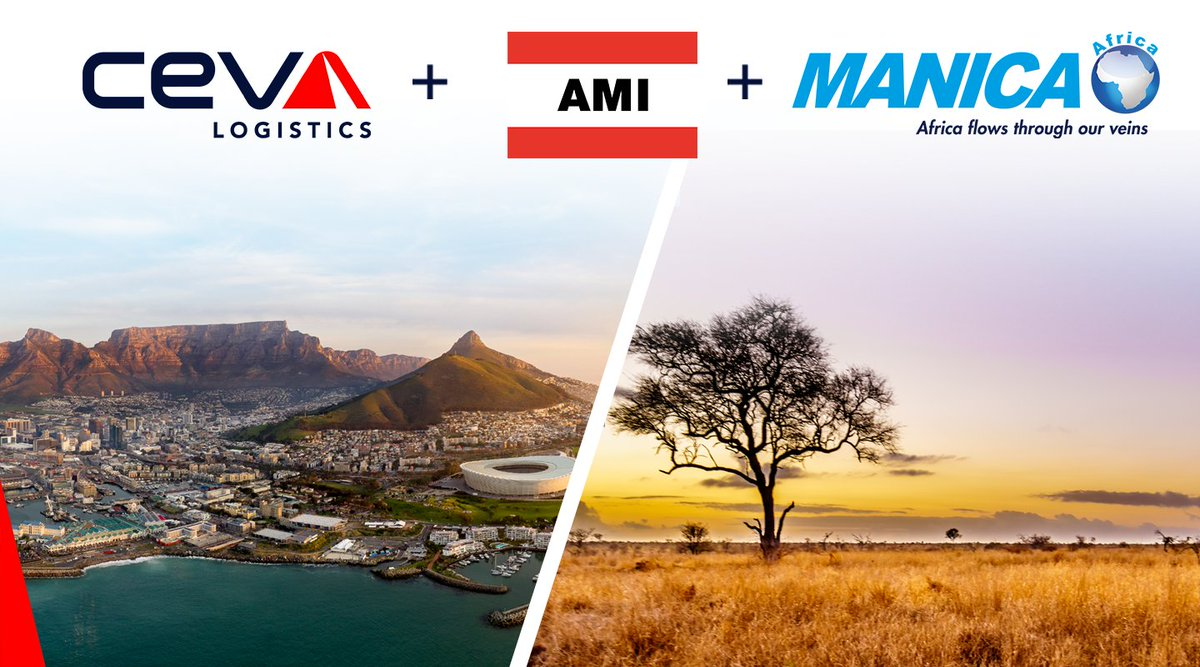 Today marks an important milestone in our ambition to become a global logistics actor in Africa, as we unveil our strategic plan to become continent-wide market player in Africa https://t.co/cffQwO2Oid   #CEVALogistics #CMACGMGroup #AMIWorldwide #MANICA https://t.co/AjntAzZlbI