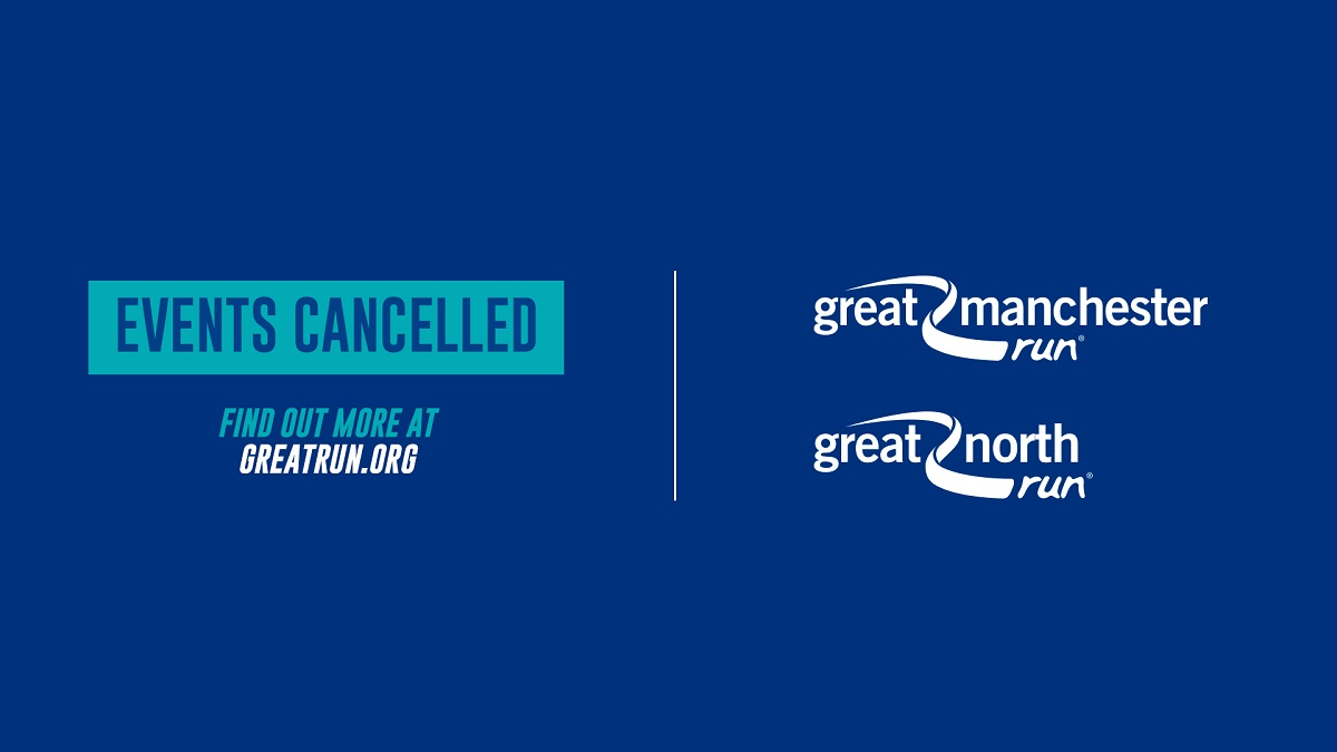 Today we confirm cancellation of the Great North Run and Great Manchester Run. We know this is disappointing but we're sure everyone will understand why this decision has been made. Thank you for your patience & understanding. Full statement & FAQs here: https://t.co/kxcHOzljuo https://t.co/qZUep5Mb4q