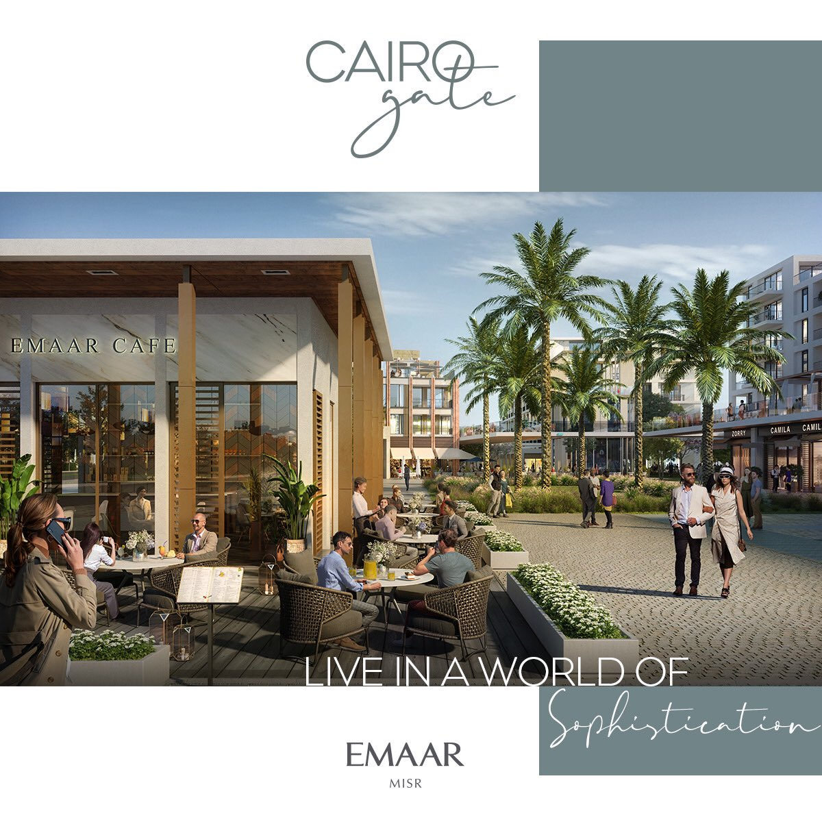 Cairo Gate offers you premium shopping outlets steps away from your home, where you enjoy a retail experience as unique as your signature.  #Emaar #EmaarMisr #CairoGate https://t.co/fO2zQG8FYO