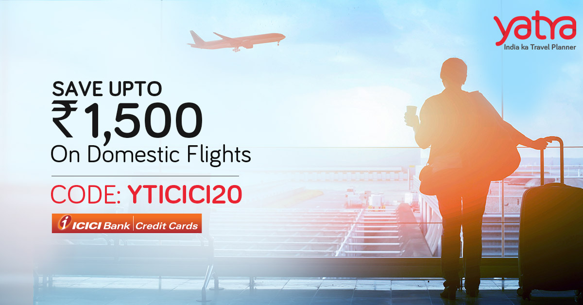 Looking for savings on Flights? This is the best time to book! Save up to Rs. 1,500 on Domestic Flights with Promo: YTICICI20. Offer valid until June 20. Hurry!  Read more: https://t.co/yxviHDmr0w  #IndiaKaTravelPlanner #DomesticFlights #Discount #Offer https://t.co/KdlDHvA8qg