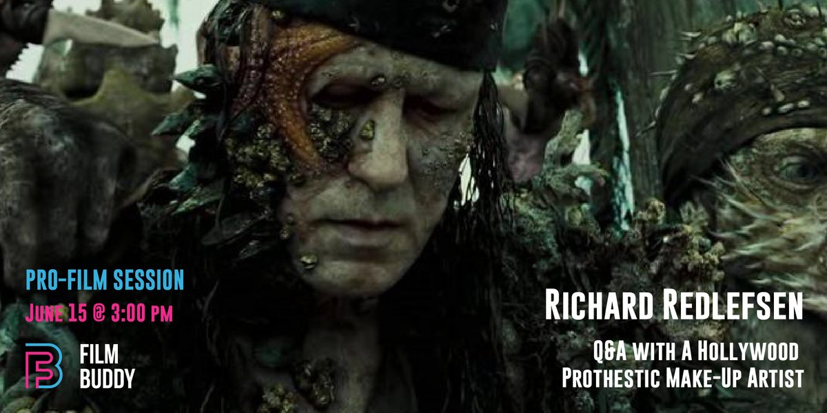 Ever wondered how they make the amazing prosthetics and make up effects in Pirates of the Caribbean, Star Trek and Twin Peaks? You're in luck. TODAY at 3pm we'll be speaking to award-winning prosthetic MUA Richard Redlefsen for a live Q&A. Don't miss it! #prosthetics #filmmakeup pic.twitter.com/ycA2jdAJnm