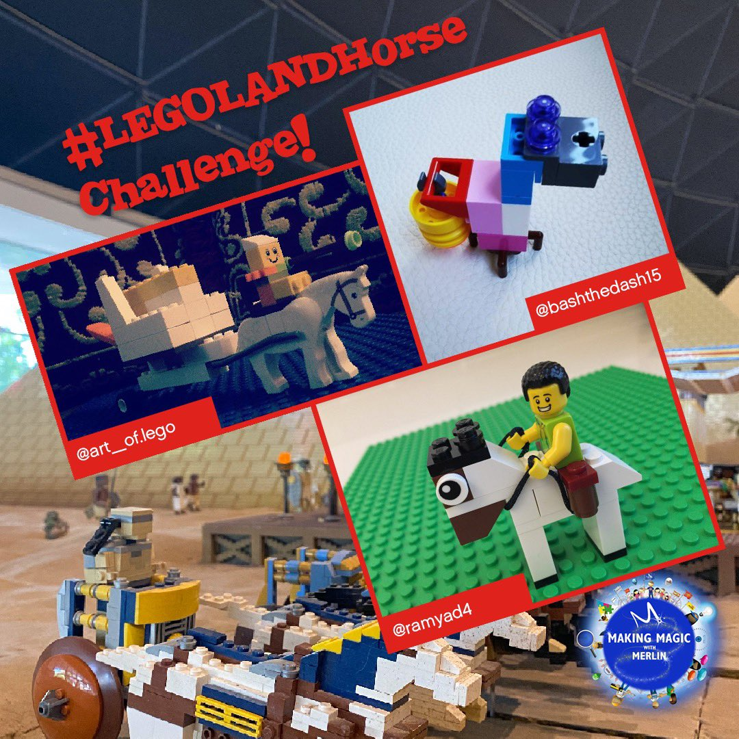 We hope you had fun building your #LEGOLANDHorse! It's AWESOME seeing your creativity and imaginations come alive and can't wait till our next building challenge to see what you will come up with!  #MakingMagicwithMerlin https://t.co/FwpYGkQUXJ