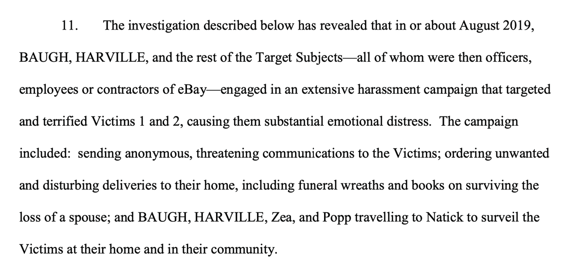 Brian Dowling On Twitter Federal Charges Unsealed Against Ebay Workers Who Cyberstalked A Reporter And Publisher Of An Ecommerce Newsletter Based In Natick Mass In Part By Mailing The Married Couple Funeral