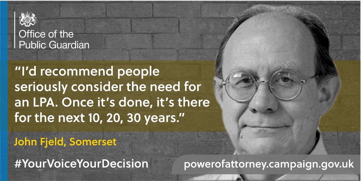 Support networks come in many forms; family, friends and neighbours. Whoever you trust most, make sure they're there to look out for you with a lasting power of attorney #YourVoiceYourDecision  For more information, go online 💻https://t.co/ogXwe4stY9 https://t.co/p6eutOR3mH