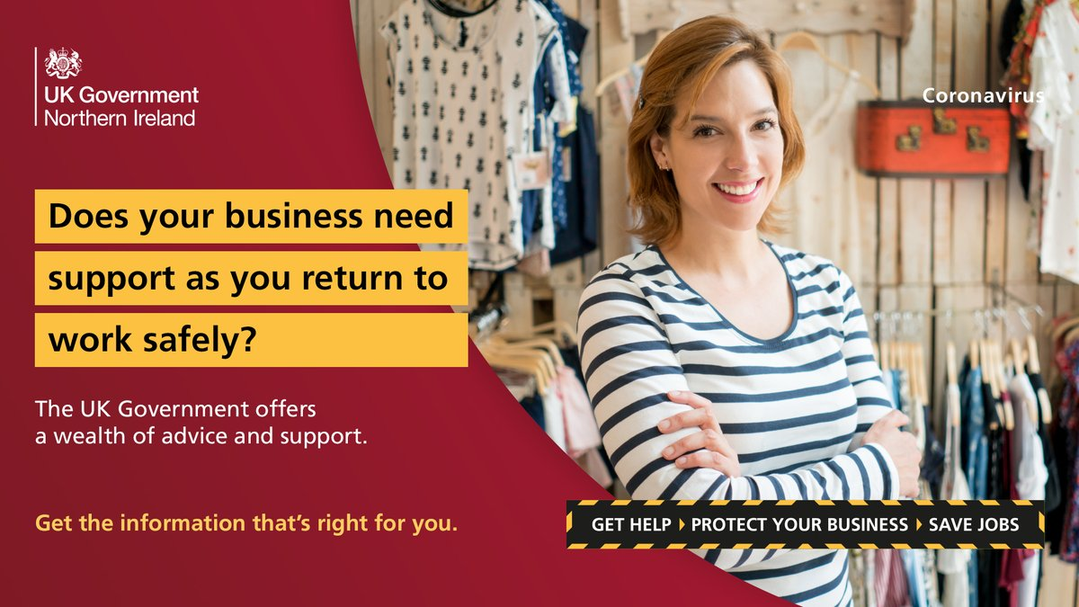Northern Ireland Office On Twitter Does Your Business Need Support As You Return To Work Safely Visit The Northern Ireland Business Support Finder Learn About The Grants Loans Available To