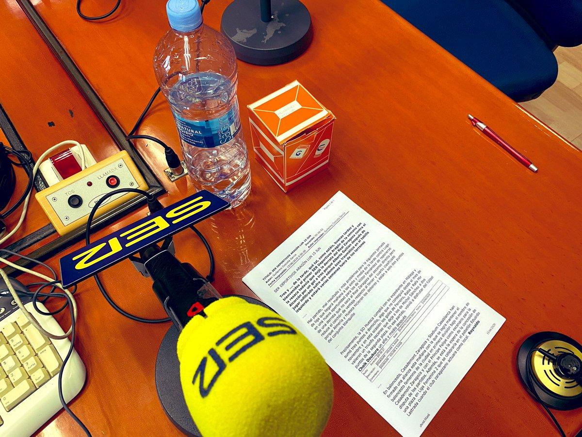 A las 15:20 horas analizamos en SER Deportivos Aragón la derrota contra el Alcorcón y miramos al Lugo. La botella, siempre, medio llena... #EsElMomento https://t.co/Fi0NNyna1g