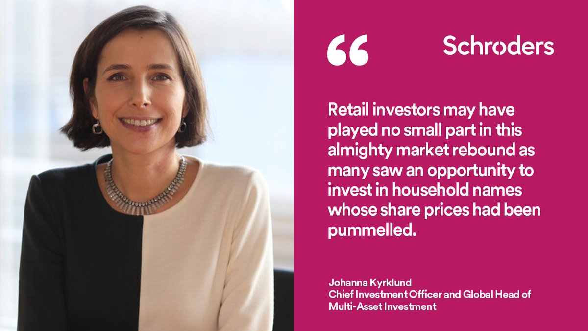 Johanna Kyrklund: Is retail investor surge cause for caution? With a combination of resurgent markets, seemingly ebullient retail investors and a bleak economic outlook, it may be prudent to tread carefully. https://t.co/DN5mea3W9Q #MarketViews #AssetAllocation #MultiAsset https://t.co/Yg5a5oPjj4
