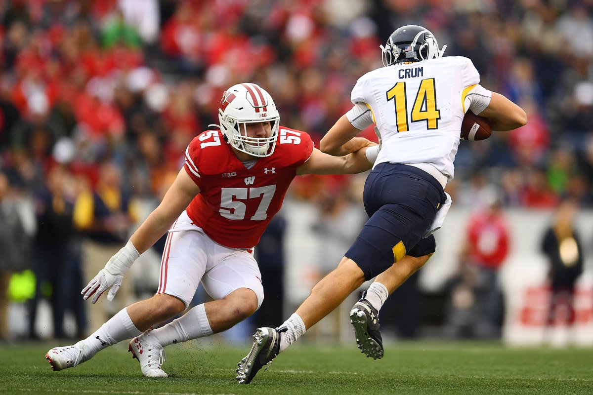 Wisconsin #Badgers football: 2021 NFL Draft prospects  @pff_college rated the top-five players at each position for next year's draft and a pair of Badgers made the cut.  #ProBadgers #BadgersInTheNFL