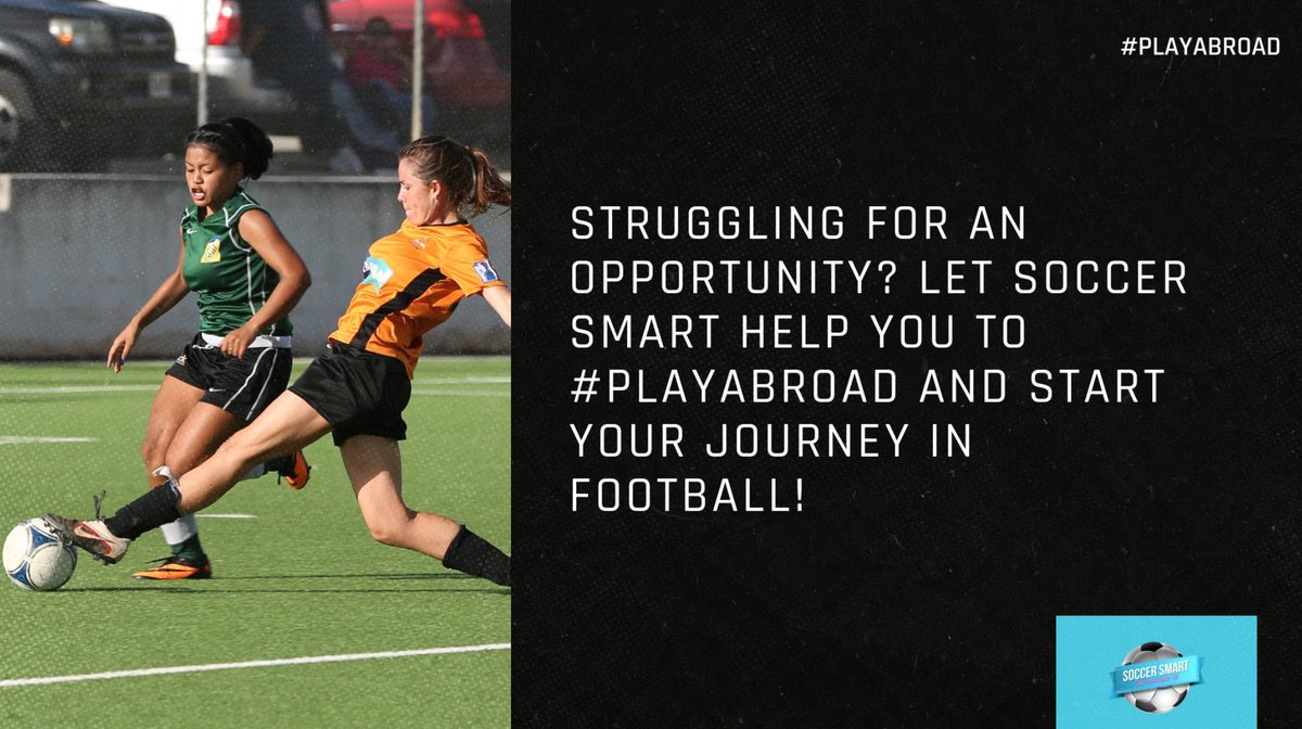 Did you know we also help female footballers take their careers abroad?  Follow @Soccer_Womens and speak to an expert consultant to get started.  #PlayAbroad #SmartPlayer https://t.co/8pJtm2IzWF