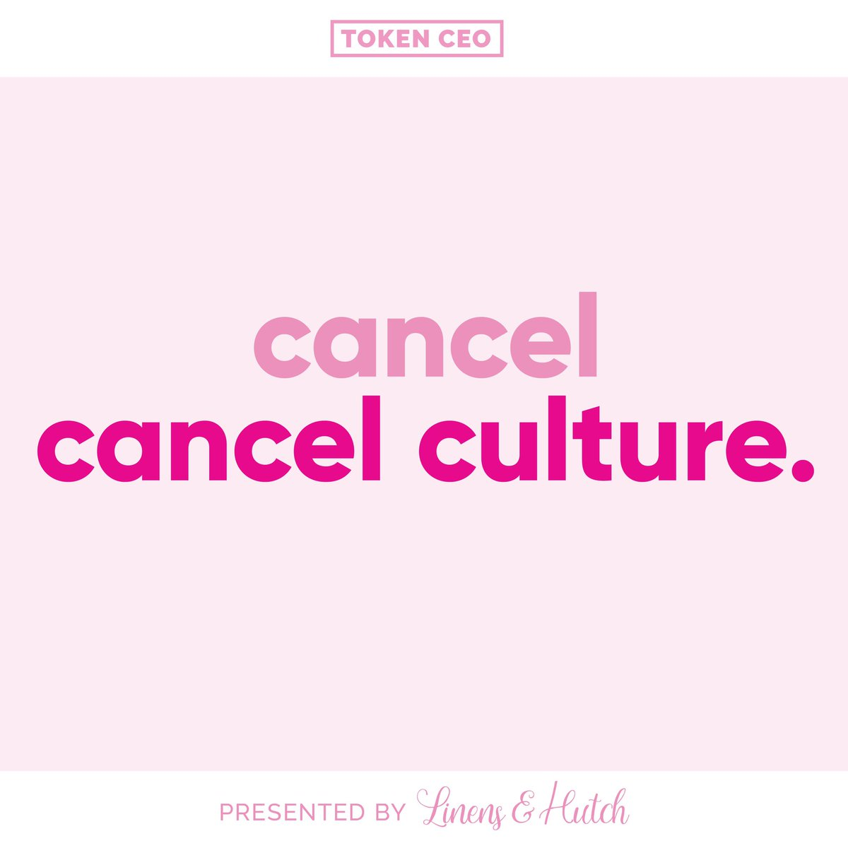 Today's episode is uncancellable.   Erika is joined by @SteveKrak to discuss cancel culture and its role in entertainment and news.  Listen here: https://t.co/DSQUF8S0dN  Presented by @linensandhutch https://t.co/ZMkdaQM1WM